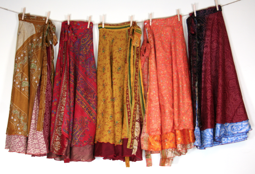 Darn Good Yarn Sari Skirts