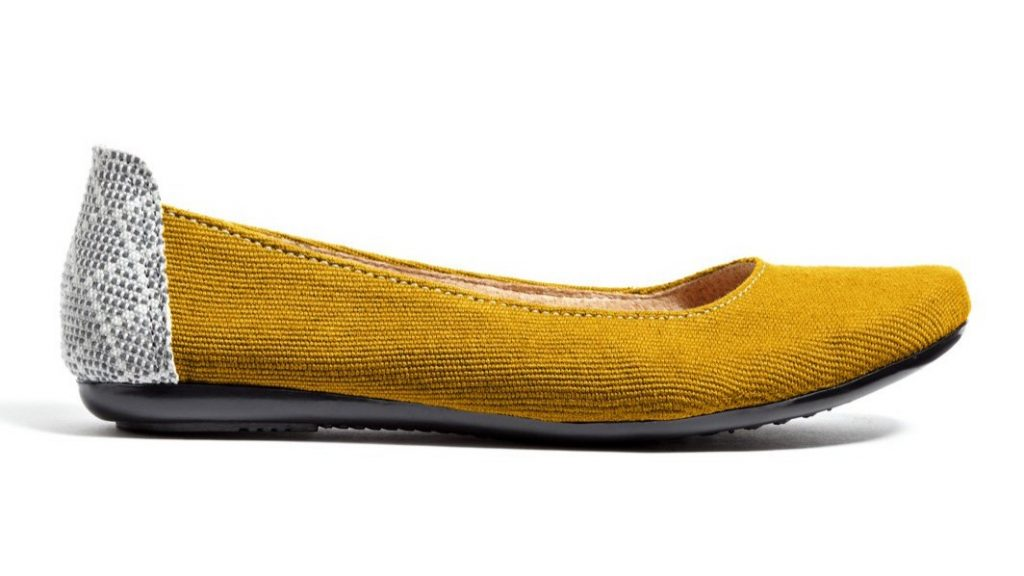 The Gabby Flat in mustard, from The Root Collective