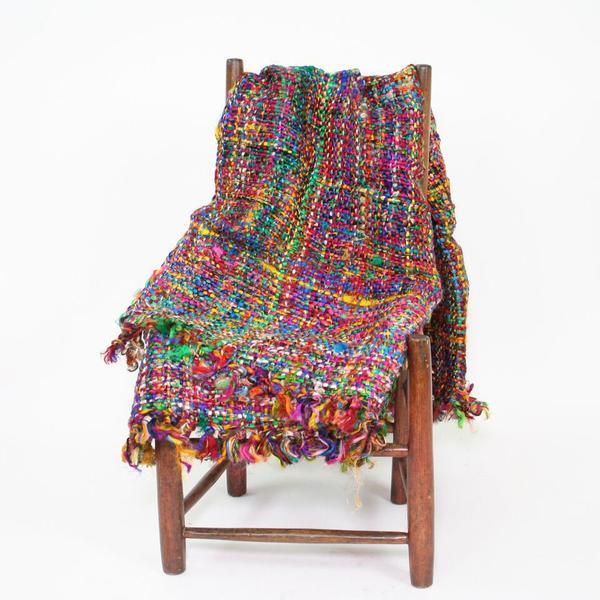 Deluxe Handwoven Sari Silk Throw
