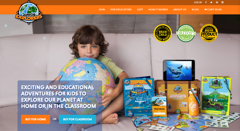 Junior Explorers Education Subscription Box