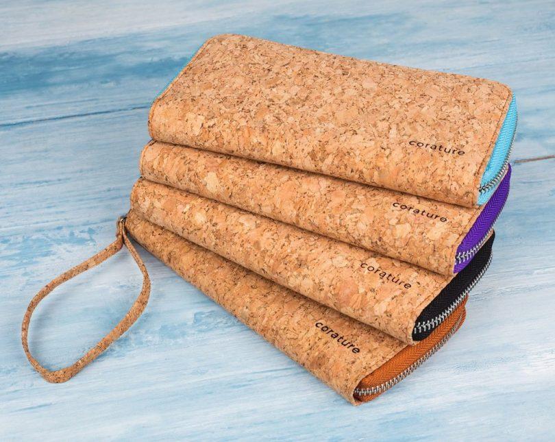 Corature Cork Wallet Purse Wristlet