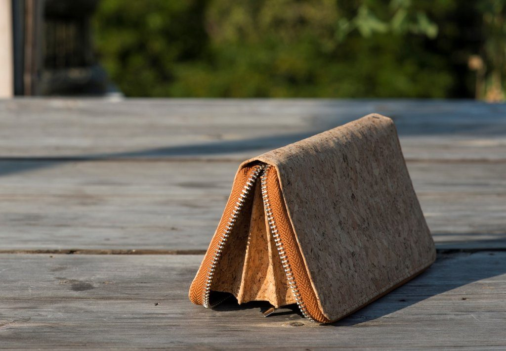 Cork Clutch Purse Wristlet